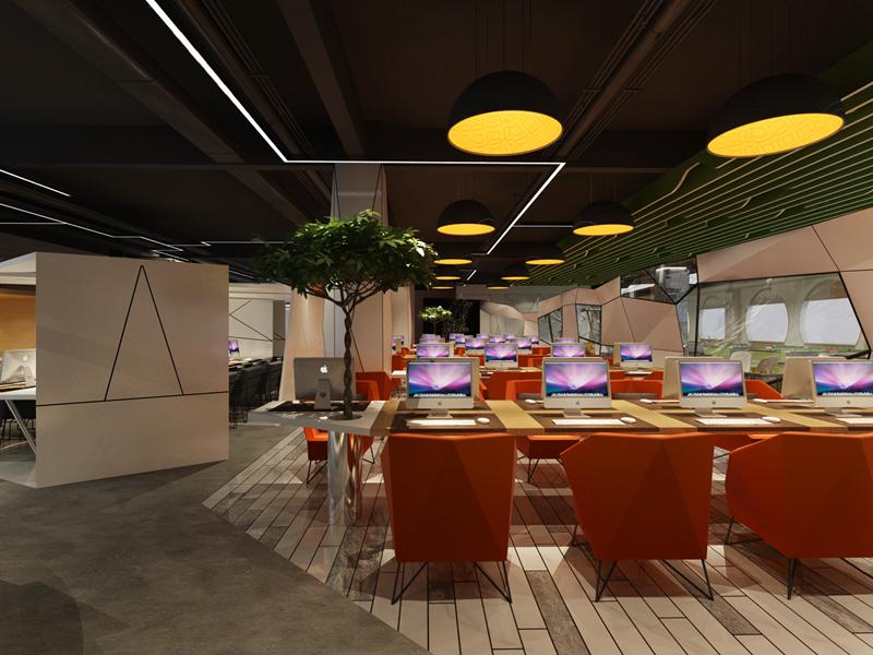嘉定800平办公室空间设计