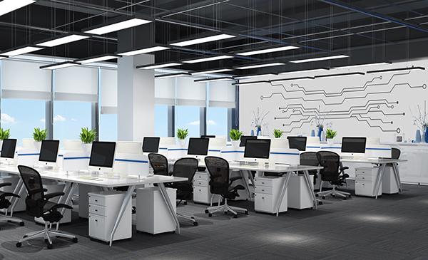 现代风格电子科技公司办公室图片