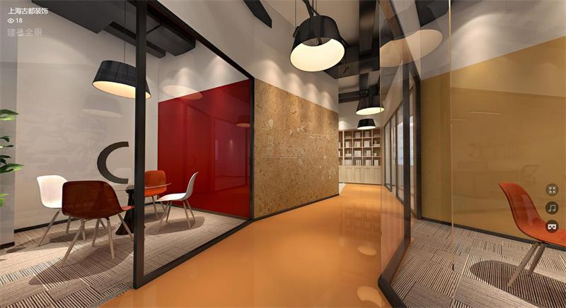 大宁国际三期办公室设计360度全景图