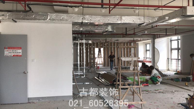 上海普天科技城办公室施工现场