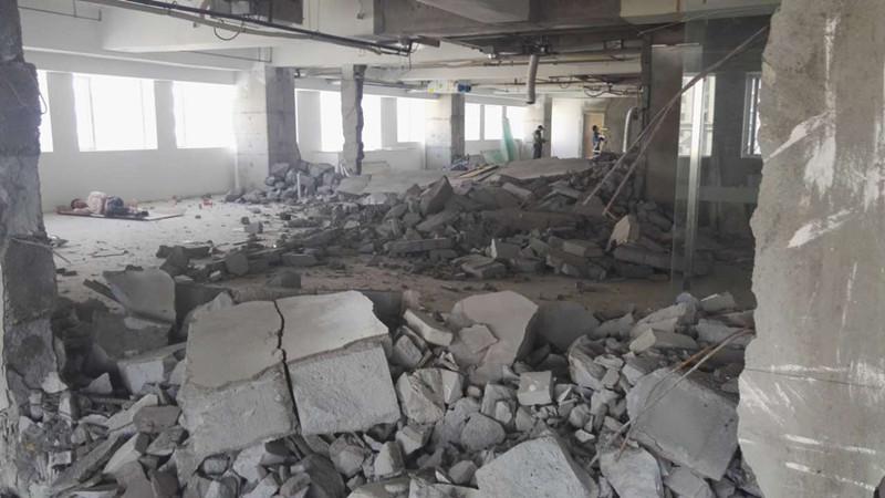长宁亚搏官网亚搏官方网站复原之前期拆除施工