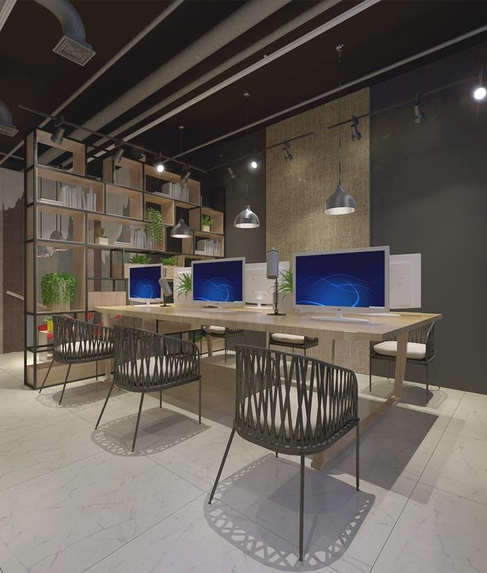 116平米创业公司办公室雷火电竞下载设计案例