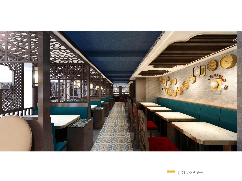 上海南京路450平餐厅装潢