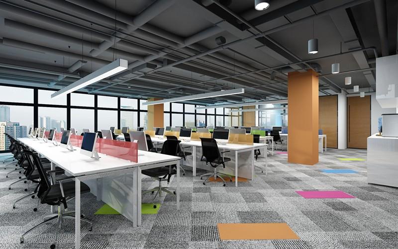 上海办公室雷火电竞下载设计效果图之900平米房产公司