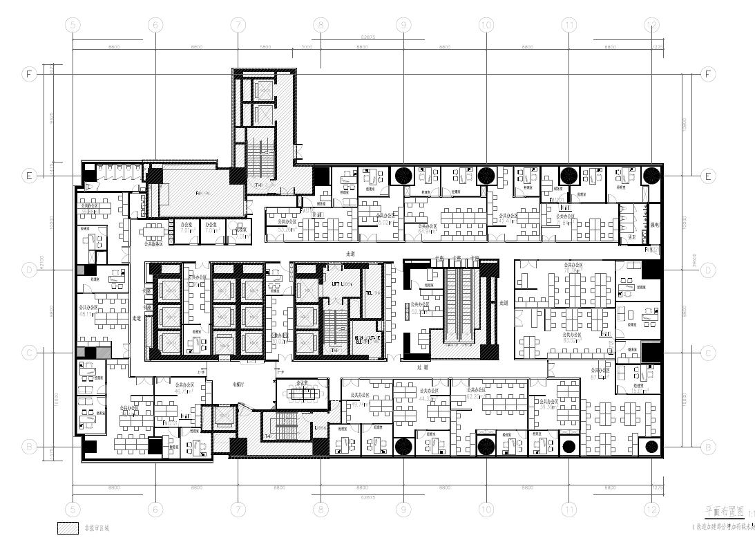 黄浦区南京西路388号仙乐斯广场整层办公室装修