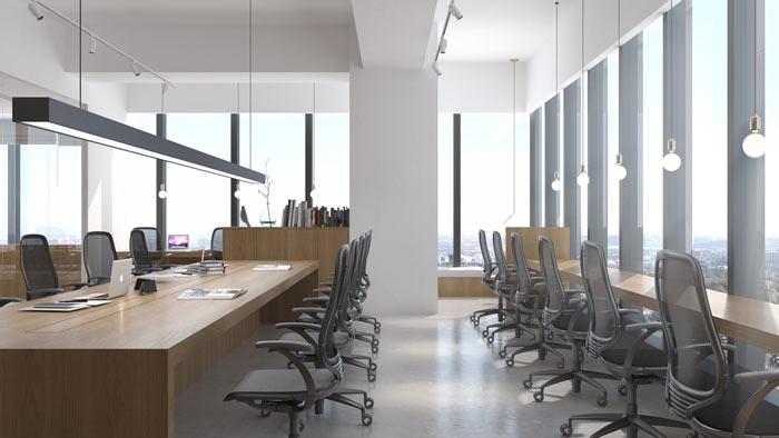 商贸公司办公室雷火电竞下载设计效果图