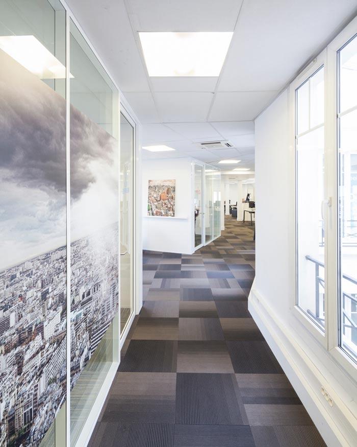 空气环保公司办公室雷火电竞下载设计案例