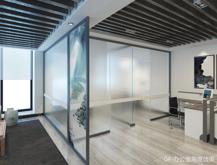 中式家庭办公室隔断装修效果图